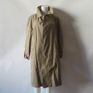 BURBERRY TAUPE TRENCH COAT SZ 38 R *